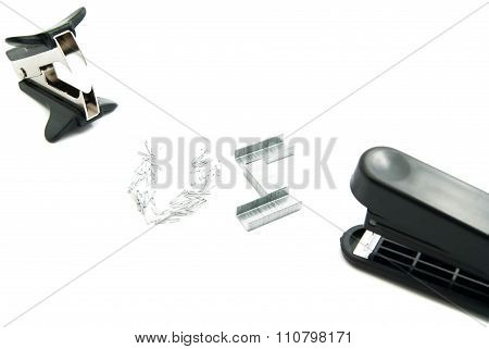 Staple Remover And Plastic Stapler