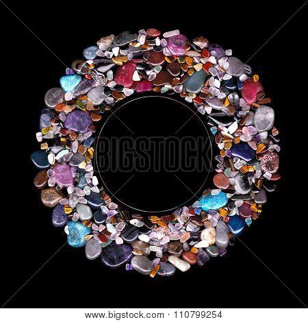 Circular Semi-Precious Stones
