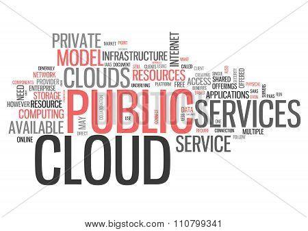 Word Cloud Public Cloud