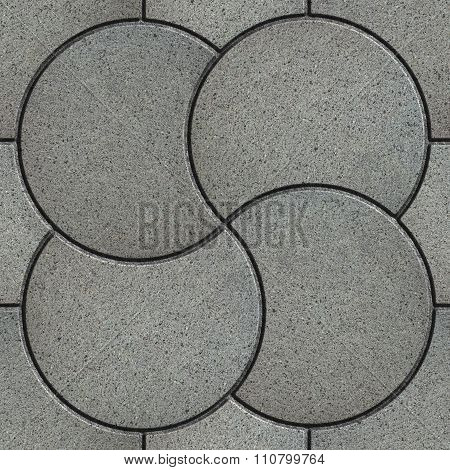 Gray Pavement in the Form of a Quatrefoil.