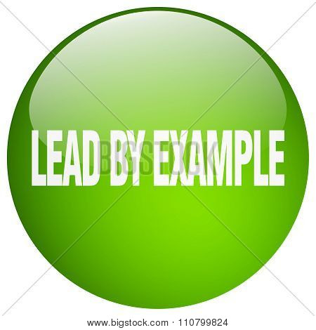 Lead By Example Green Round Gel Isolated Push Button