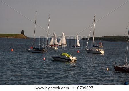 sailboats at Chester,Nova Scotia