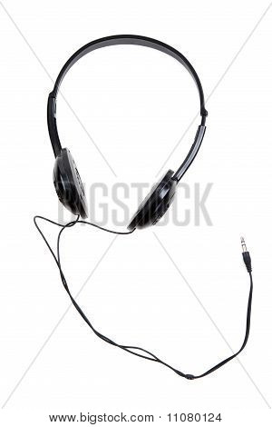 Black Earphones With Wire And Jackplug