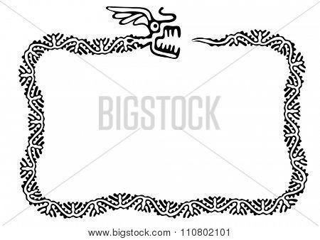 snake frame, design element