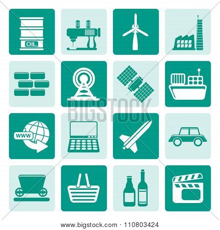 One tone Simple Business and industry icons