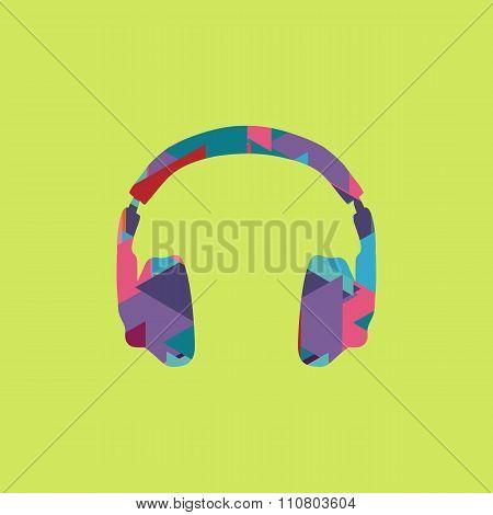headphones icon trendy