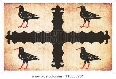Grunge Flag Of Flintshire (wales)