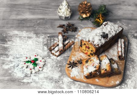 Christmas Stollen Food Photo