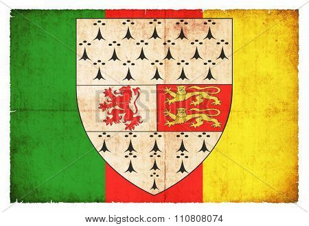 Grunge Flag Of Carlow (ireland)