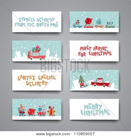 Merry Christmas Set Of Card Templates