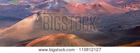 Haleakala volcano crater