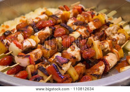 Bbq Grilled Mixed With Vegetables