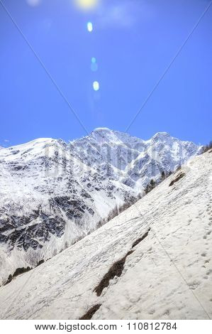 Caucasus. Mountain Landscape. Sunbeam