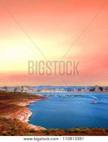Sunrise Lake Powell Arizona