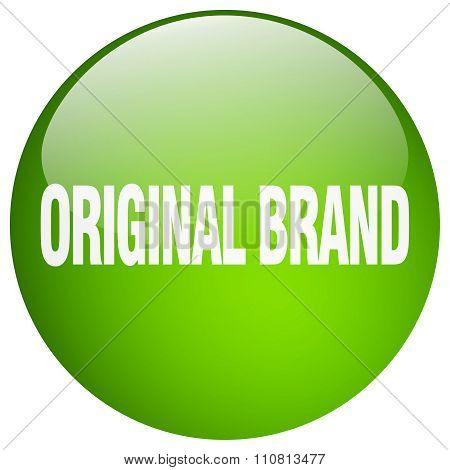 Original Brand Green Round Gel Isolated Push Button