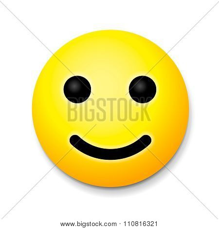 Yellow laughing happy smile, emoji smile symbol