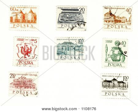 Collectible Postage Stamps From Poland