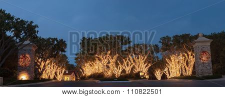 Christmas holiday lights in Crystal Cove