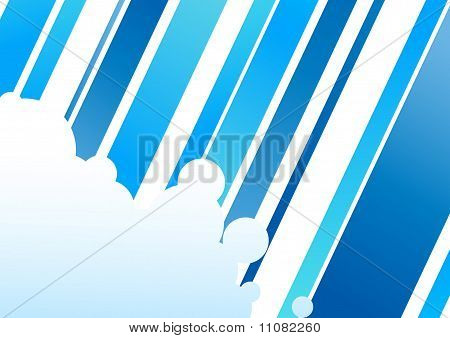 Blue Colored Abstract Corporate Concept