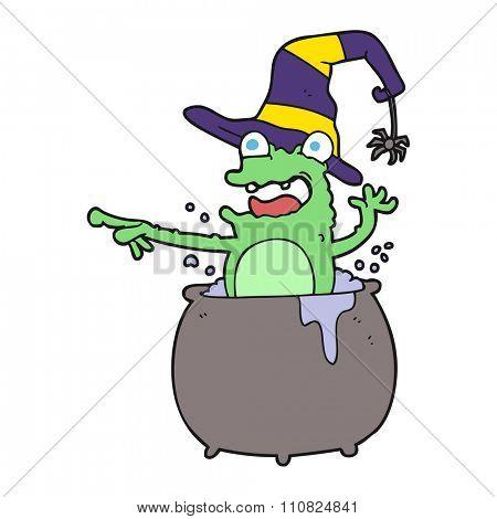 freehand drawn cartoon halloween toad