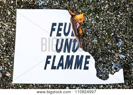 Burning Paper On The Ground
