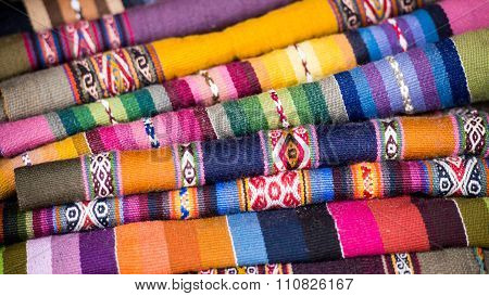 Colorful Alpaca Weavings from Peru