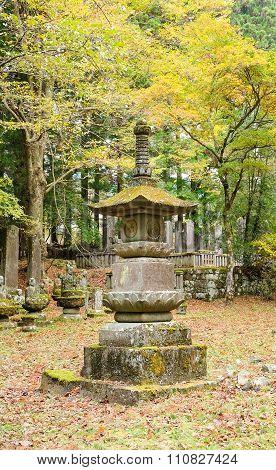 Stone lamp  in Nikko temple, Japan