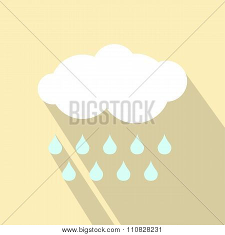 Cloud with drops ecology icon