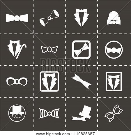 Vector bow-tie icon set
