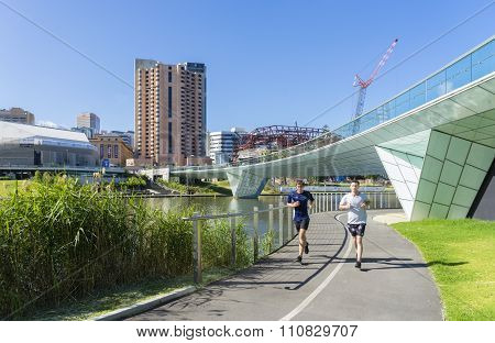 People doing exercise in Adelaide