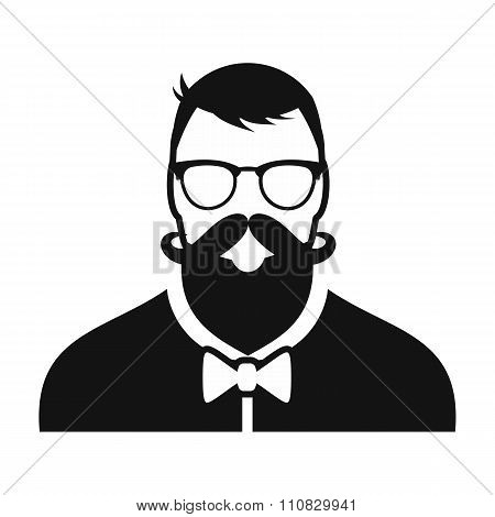 Hipster simple character