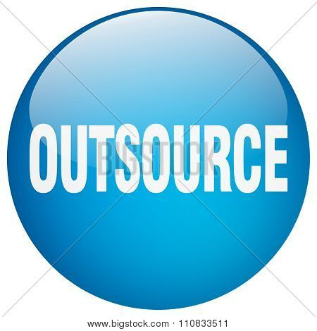 Outsource Blue Round Gel Isolated Push Button