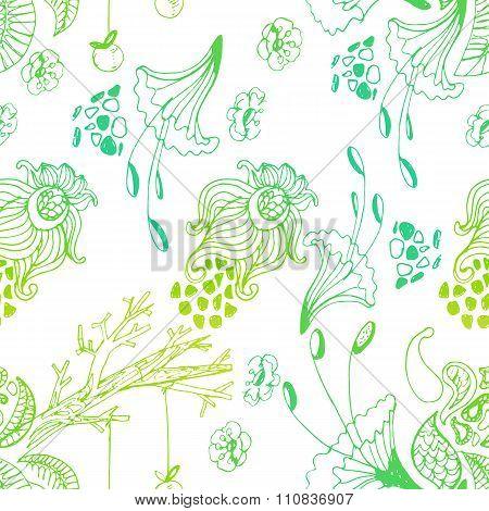Cute Doddle Magic Forest Pattern