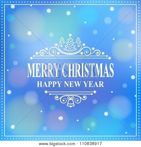 Happy New Year Message. Merry Christmas Holidays Wish. Greeting Card, Invitation, Brochure, Flyer De