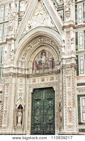 Close Up Of Florence Cathedral Santa Maria Del Fiore, Italy