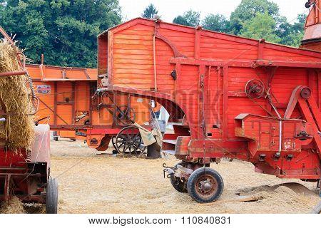 Old straw baler