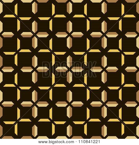 Abstract Seamless Geometric Pattern Of Trapezoidal Shapes Forming Pluses