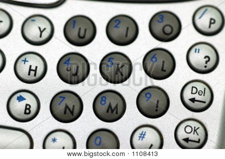 Number Keypad Closeup
