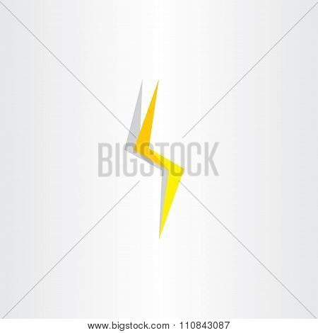 Thunder Lighting Bolt Yellow Flash Icon