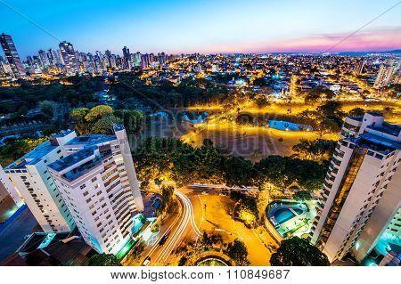 Vista aérea de Goiania