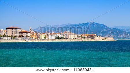 Panoramic Coastal Cityscape Of Ajaccio, Corsica