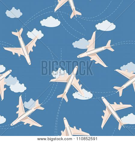 Planes seamless background
