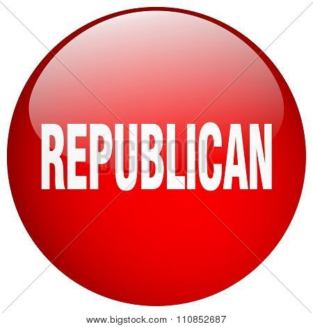 Republican Red Round Gel Isolated Push Button