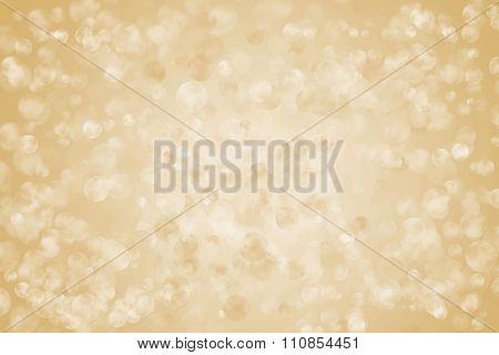 Light Abstract Holiday Background, Golden Lights, Glowing Bokeh