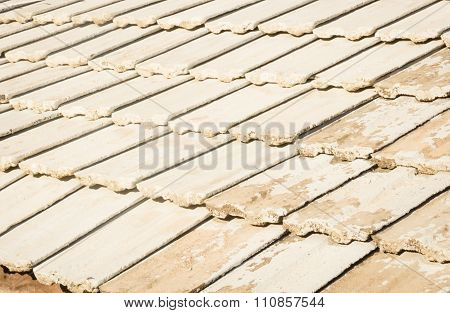 Pattern Of Tiles On The Old Roof