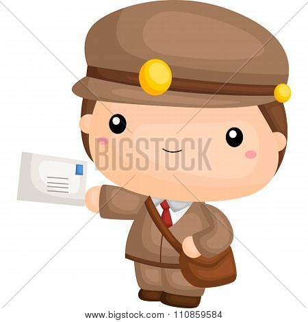 Cute Little Postman