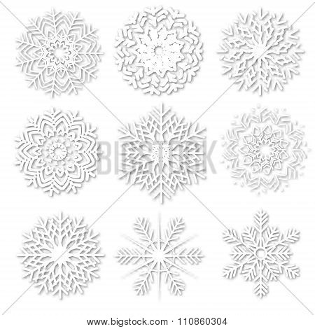 Paper snowflakes collection