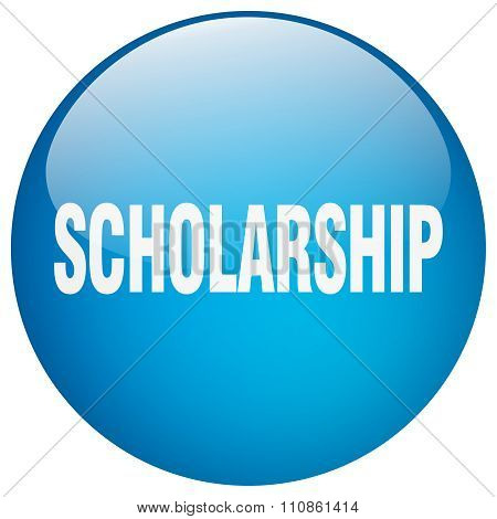 Scholarship Blue Round Gel Isolated Push Button