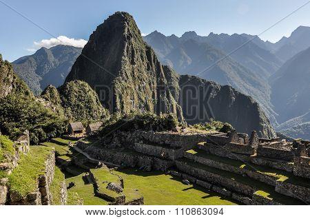 Daylight At Machu Picchu, The Sacred City Of Incas, Peru