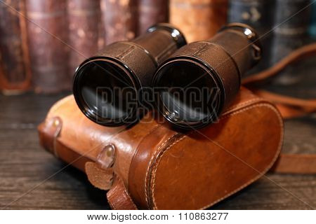 Old Binoculars And Case
